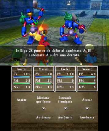 Dragon Quest VII Combate por turnos